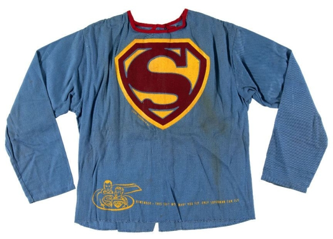 Superman can fly label