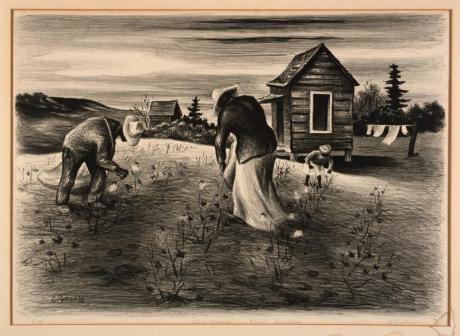 The Harvest - South Carolina by Charles Pollock, 1930's